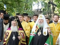 Patriarchs Bartholomew of Constantinople and Alexei of Moscow meet in Kiev