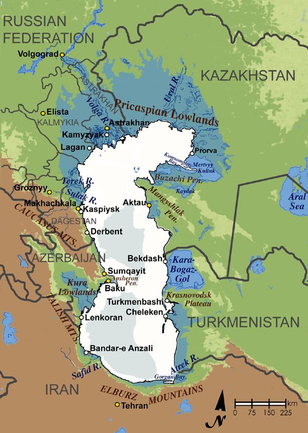 Caspian Sea Map | European Dialogue