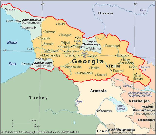 Map Of Georgia   European Dialogue
