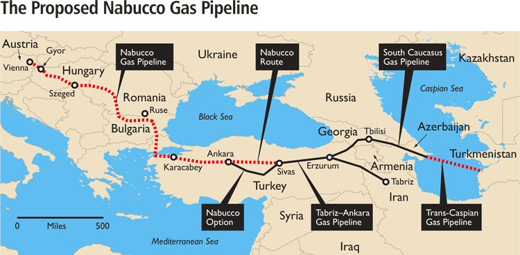 Nabucco Pipeline Map