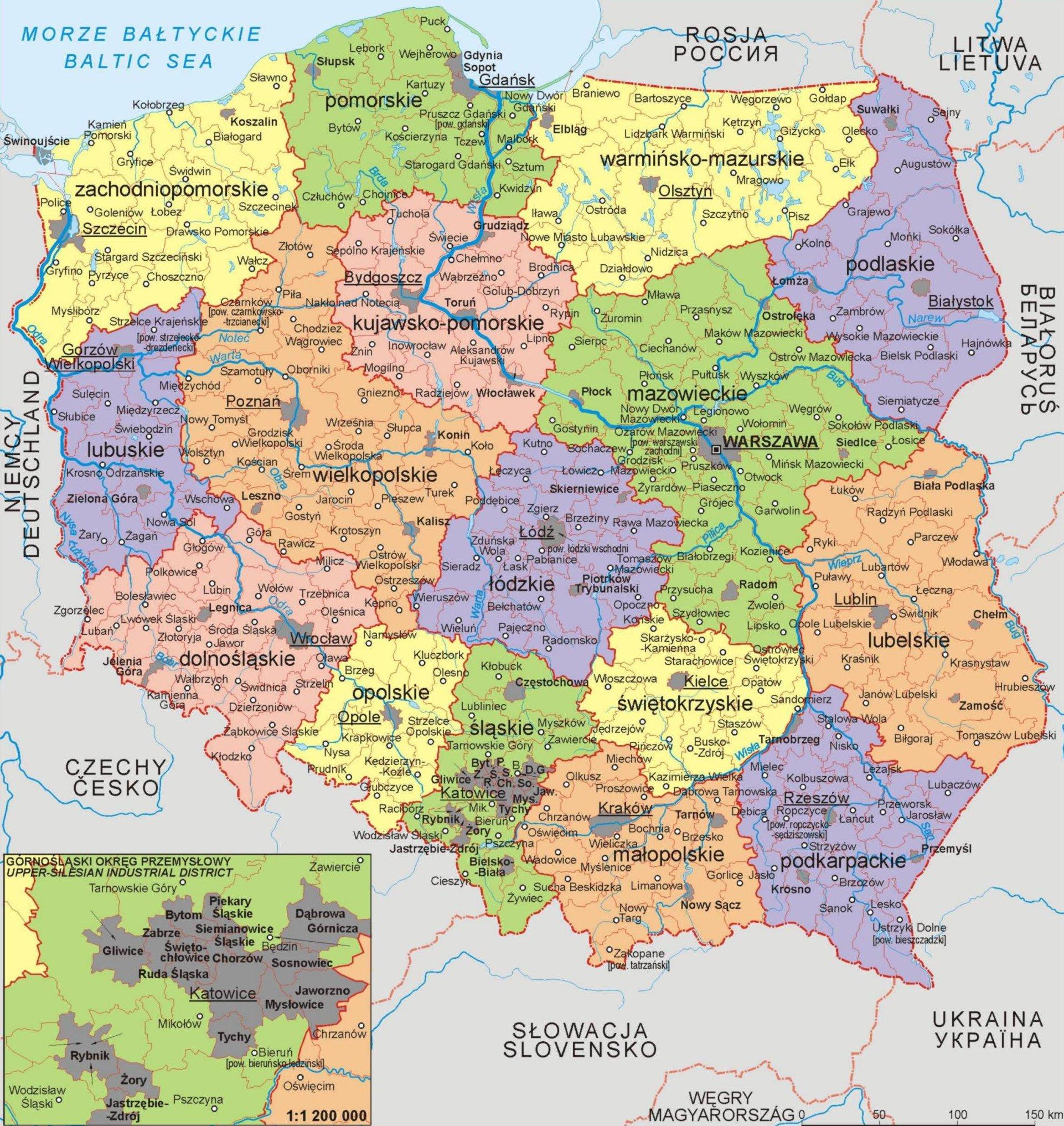 poljska karta evrope POLJSKA Karta Poljske – Autokarta – Zemljovid | Gorila poljska karta evrope